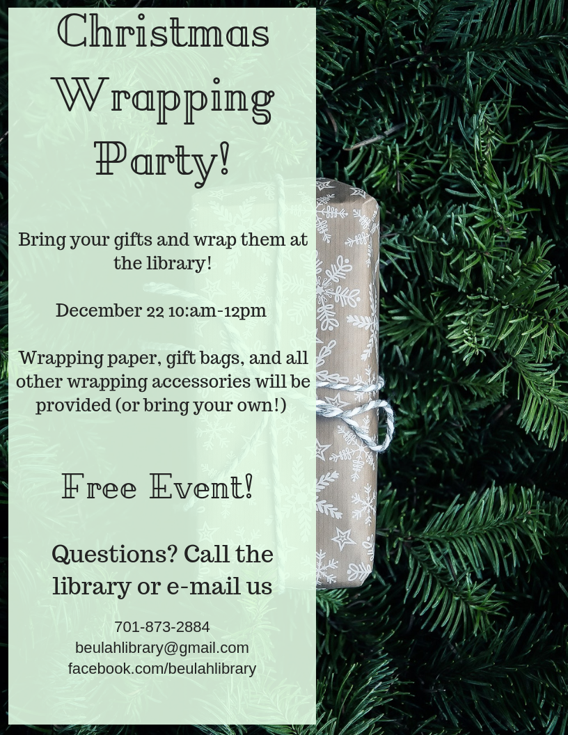 Wrapping party!